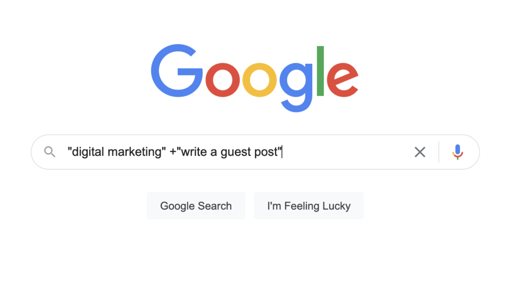 Guest blogging search operators